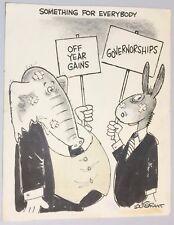 LOU GRANT (1919-2001) Oakland Tribune Political Cartoon Original Art