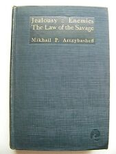 1923 1st Ed. JEALOUSY; ENEMIES, THE LAW OF THE SAVAGE By MIKHAIL ARTZYBASHEFF