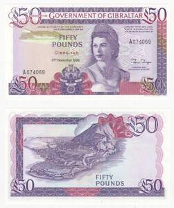 GIBRALTAR £50 Pounds Banknote (1986) P.24 - UNC.