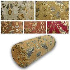 Bolster Cover*Damask Chenille Neck Roll Tube Yoga Massage Pillow Case Custom*Wk1