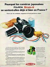 PUBLICITE ADVERTISING 0105  1970  FUJI FILM   appareil photo FUJICA  single 8