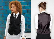 Premier Ladies Lined Waistcoat Black L