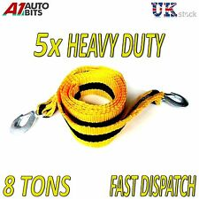 5 pcs 8 TONNE 8T 8000kg 3M Tow Towing Pull Rope Strap Heavy Duty Road Recovery