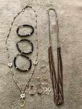 Vintage Miscellaneous Jewelry LOT Necklaces & Bracelets And Earrings