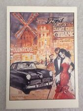 Ford Revue 1954 Postcard 1st On eBay Car Poster. Own It