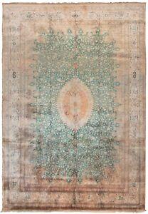 10x13 Signed Rare Fine Silk Handmade Rug Handmade Area Rug Quality Green 10x14