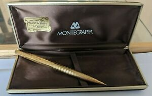 MONTEGRAPPA GOLD PLATED OR PL VINTAGE PEN STYLO FOUNTAIN DUPONT VISCONTI PENNA