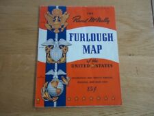 CARTE WW II MAP OF THE UNITED STATES RAND Mc NALLY INSIGNE MILITAIRE NAVY U.S
