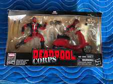 Marvel Legends Deluxe 80 Years Deadpool Corps Scooter Vehicle Dogpool Figure NEW
