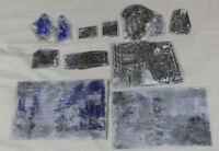 10x Klischee Clicheé - Druckplatten für Zeitung - ca. 3x2  bis ca. 12x8 cm. /101