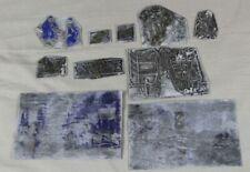 10x Klischee Clicheé - Druckplatten wohl für Zeitung - ca. 3x2  bis ca. 12x8 cm.