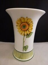 Villeroy and Boch Sunflower Country Collection Flora Flower Vase Trumpet Shape