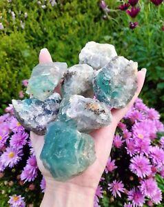 Rainbow Fluorite Rough / Raw Chunks (7 pieces - 1kg)