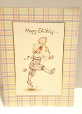 Vintage 1978 Holly Hobbie American Greeting Card Happy Birthday and Away