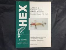 Vintage Fishing Lure Book History & Collector's Guide to Hex Baits Brockville ON