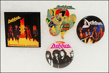 Dokken Lot Of 3 80's Buttons & 1987 Beast From The East Tour Pin Badge