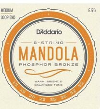 D'Addario EJ76 Mandola Loop End Strings. 8 String, Set.15-52 Medium Gauge