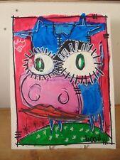 Art Contemporain Art Brut Art Singulier 4004 Oeuvre originale signée JC 4-2-18