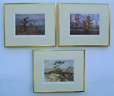 Group of Seven, Carmichael, Thomson, Casson 3 Art Prints in Shiny Gold Frame