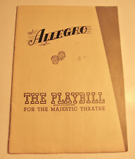 "1948 Playbill for ""Allegro"" at the Majestic Theatre in New York City"