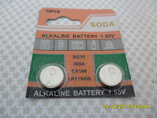 2 X AG10 LR1130 1.55V STOP BARK ALKALINE BATTERY BATTERIES TOYS  WATCH 12/2023 C
