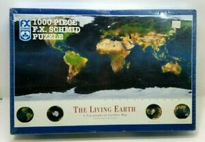1000 Pcs FX Schmid Puzzle The Living Earth A Topographical Satellite Map NEW (Z6