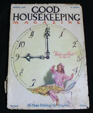 GOOD HOUSEKEEPING MAGAZINE MARCH 1910 WOMENS INTEREST CLOTHING FASHIONS COOKING