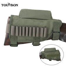 TOURBON Hunting Adjustable Rifle Buttstock Holder Cheek Riser Cartridges Carrier