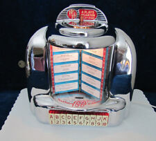 Working Seeburg 3W1 Wallbox Jukebox Nice Chrome Blue Pages