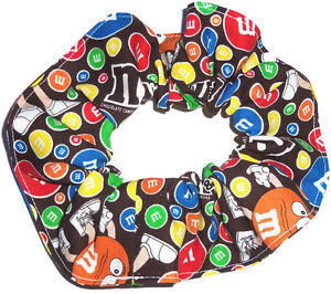 Hair Scrunchie M&M M&M's Candy Fabric Scrunchies by Sherry Ponytail Holders Ties