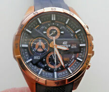 SUPERB MEN'S ROSE GOLD PLATE STAINLESS STEEL CASIO EDIFICE EFR-556P (5451) WATCH