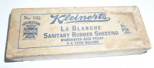 Paper box Kleinert's sanitary rubber sheeting vintage medical (S13)