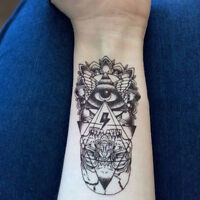 Cool Waterproof Temporary Tattoo Sticker God Eye Totem Body Art Fake Tattoos