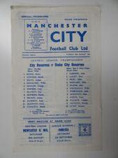 More details for manchester city v stoke city | 1969/1970 | reserves | 26 aug 1969 | uk freepost