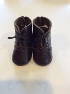 """Unique Leather Black Boots for a 27/"""" Doll S014"""