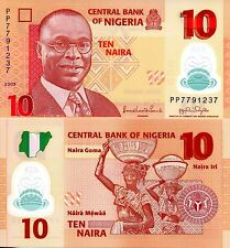 NIGERIA 10 Naira Banknote World Money Polymer UN Currency Pick p39a Aslvan Ikoku