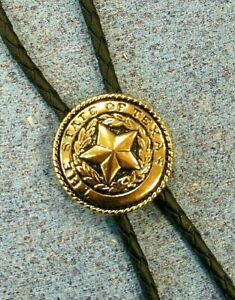 Bolotie Westernkrawatte Krawatte Schlips Cowboy Sheriff Stern Lederband Country