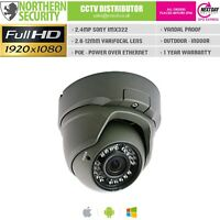 SONY IMX 2MP 2.8-12MM 1080P ONVIF P2P 30M POE AUDIO OUTDOOR DOME IP CAMERA CCTV