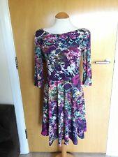 Ladies TU Dress Size 14 Purple Stretch Bow Back Party Day