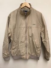 ROCKPORT Mens Beige Jacket Harrington Bomber Style Spell Out Collar Size Large