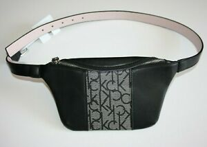 Calvin Klein Fanny Pack Belt Bag Brown Black Gray Size: M L XL New NWT