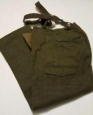 Mens M Bartimes Fils Wool Battle Dress Button Fly Suspender Cargo Style Pants 29