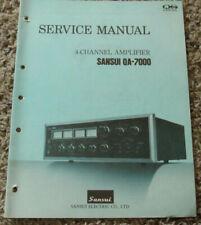 New listing Sansui Qa-7000 Stereo Amplifier Original Service Repair Manual