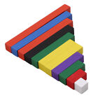 Montessori Wooden Math Toys Number Sticks Colorful Ascending Count Stick Toy MP