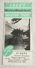 1941 Cook'S Western Wonderlands Brochure - Yosemite, Yellowstone, Grand Canyon