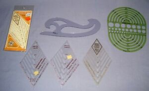 VTG Lot 6 Quilter's Template/Yours Truly/Helix Diamonds & More!