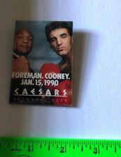 Foreman Cooney Caesars Casino Atlantic City January 15, 1990 Rectangle Pinback