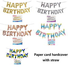 Happy Birthday PARTY Balloons Crown Latex Confetti Foil Letters Balloon 4 Types