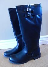 NEW Women's KENNETH COLE REACTION Black Tall Zip Up Riding Boots Size 7 US