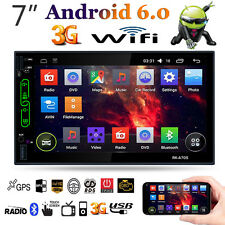 """Quad Core Android 6.0 3G WiFi 7"""" 2 DIN Car BT Stereo Radio GPS Nav MP5 Player FM"""
